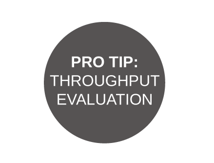 Pro-Tip: Throughput Evaluation